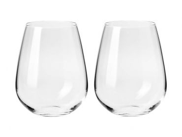 Duet Stemless Wine Glass 500ML Set of 2 Gift Boxed